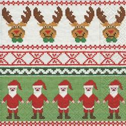 Serviettes en papier Rencontre Renne - Père Noël