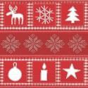Serviettes en papier Noël rouge