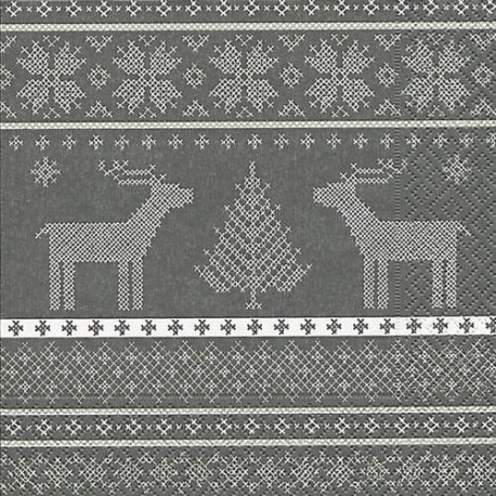 Serviettes en papier Rennes gris