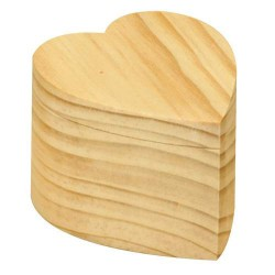 Boîte pivotante coeur 7 x 6 x 4,5 cm