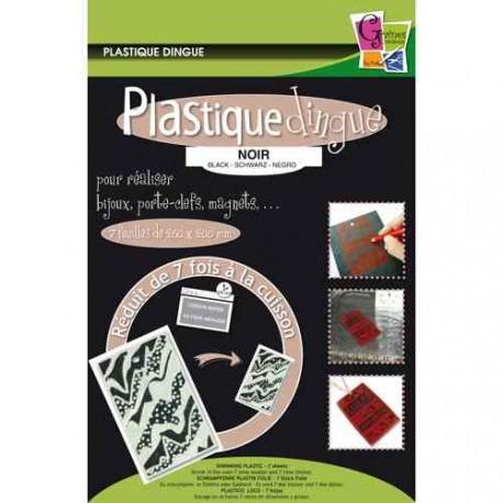 Plastique fou Noir, pochette 7 feuilles