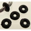 Rondelle noire Caoutchouc style Pandora 8 x 2,8 mm - à l'unité