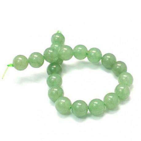 Perle naturelle Aventurine verte, ronde - à l'unité