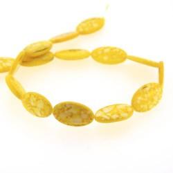 Perle Coquillage jaune, ovale 24 mm - à l'unité