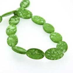Perle Coquillage verte, ovale 24 mm - à l'unité