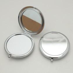 Miroir rond métallique à décorer