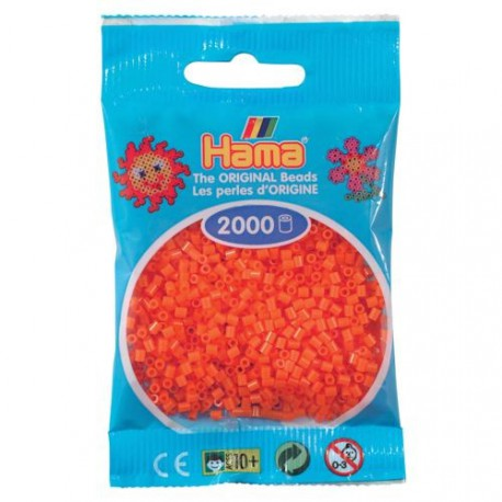 Sachet 2000 Perles Hama Mini - Orange