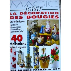 Magic Loisir n° 206 - Décoration de bougie