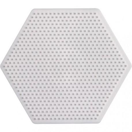Plaque perles à repasser Hama Mini - Hexagonal