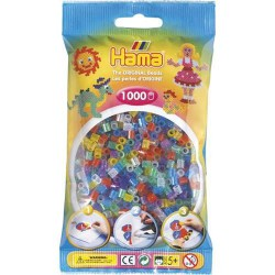 Sachet 1000 Perles Hama Midi - Assortiment pailleté