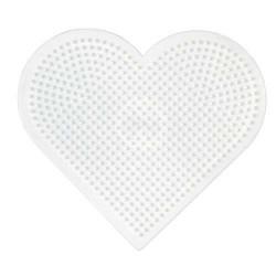 Plaque perles à repasser Hama Midi - Coeur Grand modèle