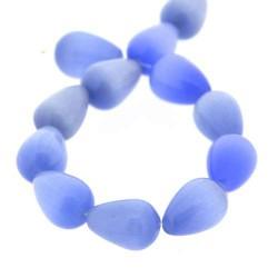Perle Goutte Oeil de Chat Bleue, 10 mm - à l'unité