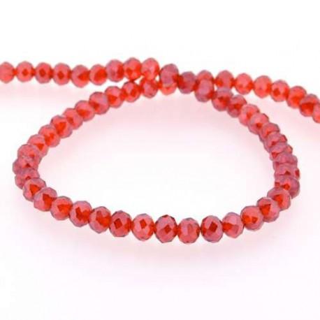 Perle de verre Cristal ronde 10mm, rouge
