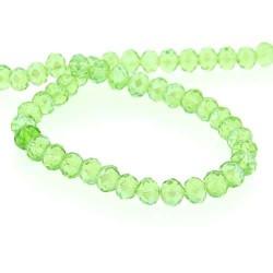 Perle de verre Cristal ronde 10mm, vert clair