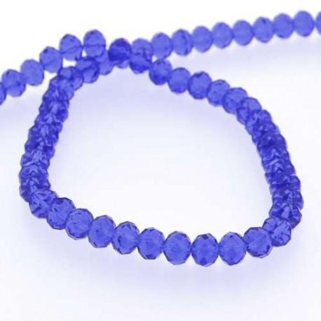 Perle de verre Cristal ronde 10mm, Bleu foncé