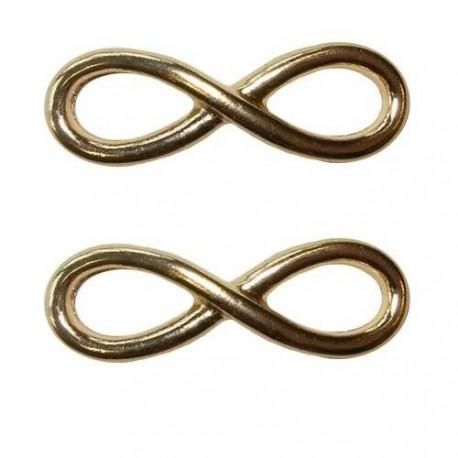 Intercalaire breloque Infini, doré 3,4 x 1,3 cm