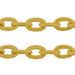 Chaîne de métal, 4 x 2,7 mm, dorée