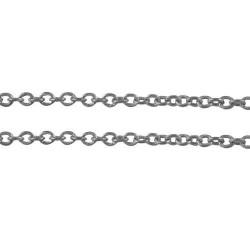 Chaîne de métal, 2 x 1,5 mm, argenté