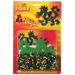 Kit perles à repasser Hama Midi - Dragons