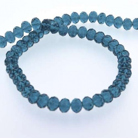 Perle de verre Cristal ronde 12mm, turquoise