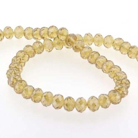 Perle de verre Cristal ronde 12mm, jaune