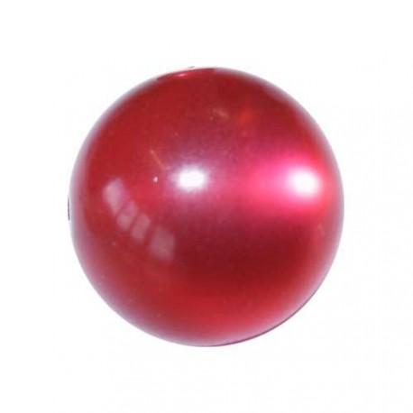 Perle Polaris fuschia, brillant, ronde 10 mm - à l'unité