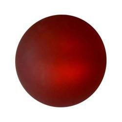Perle Polaris rouge, mat, ronde 10 mm - à l'unité
