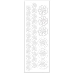 Transfert velours thermocollant Fleurs crochet blanches