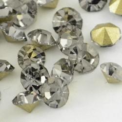Strass imitation diamant, rond 4 mm, gris x 10