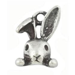 Pendentif breloque en métal petit lapin