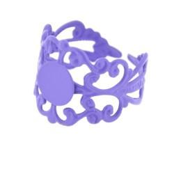 Support de bague dentelle, réglable, plateau 8 mm, mauve