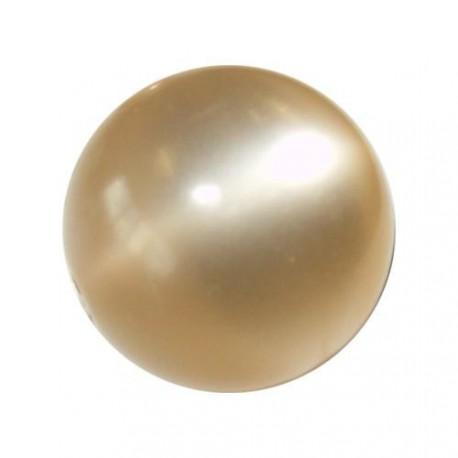 Perle Polaris champagne, brillant, ronde 14 mm - à l'unité