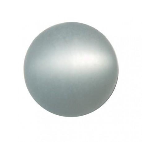Perle Polaris gris perlé, mat, ronde 14 mm - à l'unité