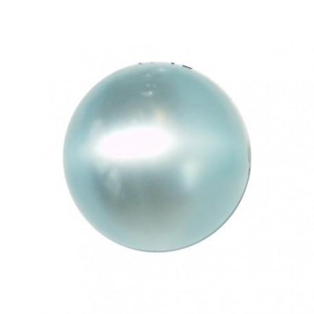 Perle Polaris turquoise, brillant, ronde 14 mm - à l'unité