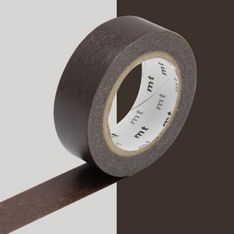 Masking Tape uni Cacao - 15 mm x 10 m