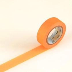 Masking Tape uni Orange fluo - 15 mm x 10 m