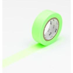 Masking Tape uni Vert fluo - 15 mm x 10 m