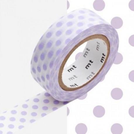 Masking Tape Pois parmes - 15 mm x 10 m