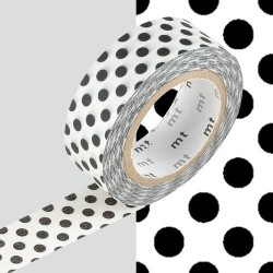 Masking Tape Pois noirs - 15 mm x 10 m