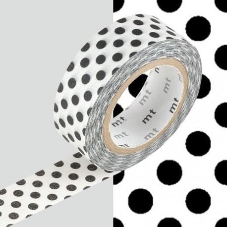 Masking Tape Pois noirs - 15 mm x 10 m