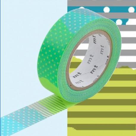 Masking Tape bleu et vert tsugihagi - 15 mm x 10 m