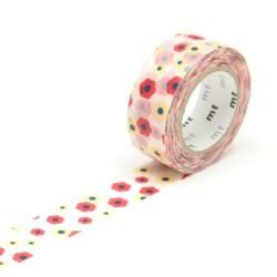 Masking Tape Kids Fleurs multicolores - 15 mm x 7 m