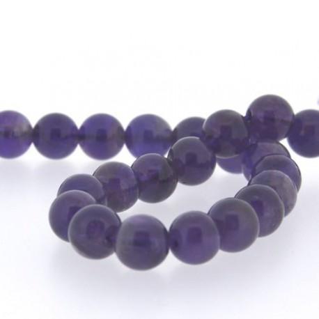Perle naturelle Améthyste, ronde 10 mm - à l'unité