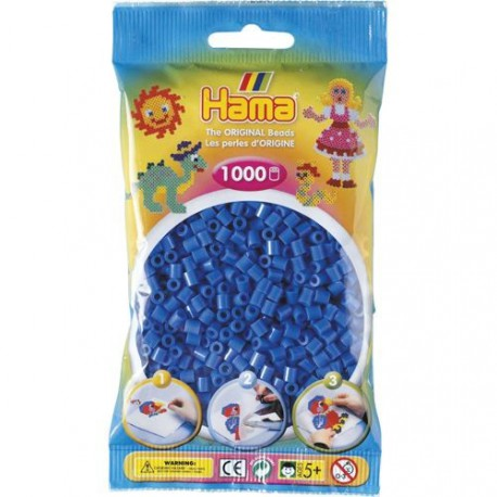 Sachet 1000 Perles Hama Midi - Bleu
