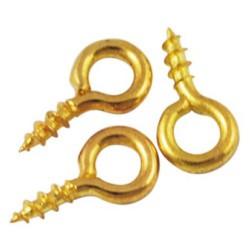 Lot de 50 pitons à visser doré 8 x 4 mm