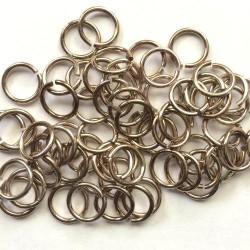Anneau aluminium brun, 11 mm x10