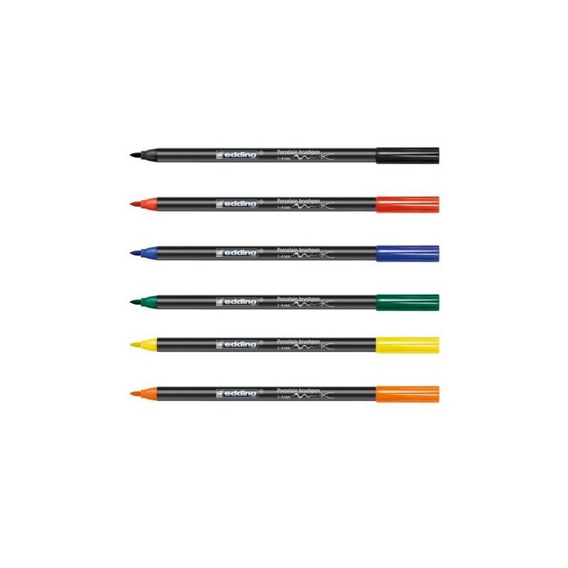 6 feutres pour porcelaine couleurs primaires pointe 1 4 mm - Stylo pour porcelaine ...