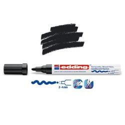 Marqueur satin mat pour surfaces poreuses, Noir pointe 2-4 mm