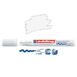 Marqueur satin mat pour surfaces poreuses, Blanc pointe 2-4 mm
