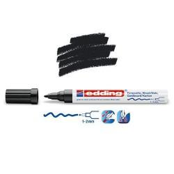 Marqueur satin mat pour surfaces poreuses, Noir pointe 1-2 mm